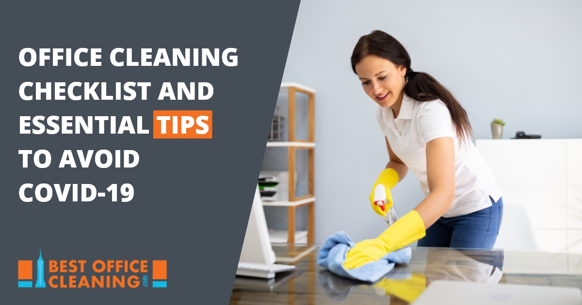 Office Cleaning Checklist And Essential Tips To Avoid COVID-19
